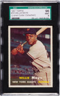 Baseball Cards:Singles (1950-1959), 1957 Topps Willie Mays #10 SGC 96 Mint 9 - Pop Two, None Higher!...
