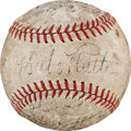 Autographs:Baseballs, 1934 New York Yankees Team Signed Baseball....