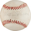 Autographs:Baseballs, Circa 1940 Walter Johnson Signed Baseball....