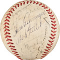 Autographs:Baseballs, 1939 American League All-Star Team Signed Baseball....