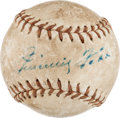 Autographs:Baseballs, Circa 1960 Jimmie Foxx Single Signed Mini Baseball....