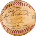 Autographs:Baseballs, 1940 Brooklyn Dodgers Team Signed Baseball....