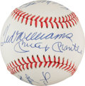 Autographs:Baseballs, 1980's 500 Home Run Club Signed Baseball, PSA/DNA Gem Mint 10....