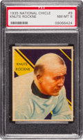 Football Cards:Singles (Pre-1950), 1935 National Chicle Knute Rockne #9 PSA NM-MT 8....
