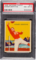 Football Cards:Singles (Pre-1950), 1935 National Chicle Homer Griffiths #13 PSA NM-MT 8....