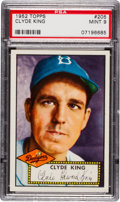 Baseball Cards:Singles (1950-1959), 1952 Topps Clyde King #205 PSA Mint 9 - Pop Eight, None Higher! ...