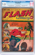 Golden Age (1938-1955):Superhero, Flash Comics #1 (DC, 1940) CGC FR/GD 1.5 Light tan to off-white pages....