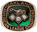 Baseball Collectibles:Others, 1990 Oakland Athletics American League Championship Ring....