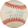 Autographs:Baseballs, 1988 President Ronald Reagan Single Signed Baseball....