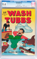 Golden Age (1938-1955):Adventure, Four Color #11 Wash Tubbs (Dell, 1942) CGC NM 9.4 Off-white pages....