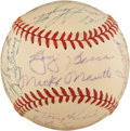 Autographs:Baseballs, 1952 New York Yankees Team Signed Baseball....