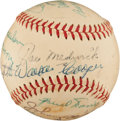 Autographs:Baseballs, 1934 St. Louis Cardinals Reunion Signed Baseball....