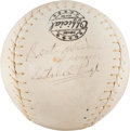 Autographs:Baseballs, Circa 1960 Satchel Paige Single Signed Softball....