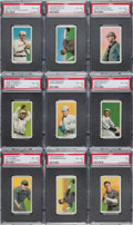Baseball Cards:Lots, 1909-11 T206 Piedmont White Border PSA Graded Collection (21). ...