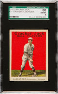 Baseball Cards:Singles (Pre-1930), 1915 Cracker Jack Grover Alexander #37 SGC 88 NM/MT 8 - Pop Three,Three Higher. ...