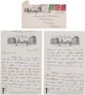 Autographs:Letters, 1931 Ellsworth Vines Handwritten Letter with Bill TildenContent....