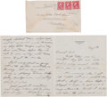 Autographs:Letters, 1931 Ellsworth Vines Handwritten Letter with The Meadow ClubIllness Content....