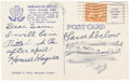 Autographs:Post Cards, 1948 Honus Wagner Handwritten Signed Postcard....