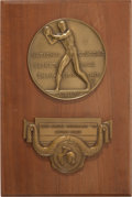 Basketball Collectibles:Others, 1957 Kansas Jayhawks NCAA Championship Second Place PresentationalPlaque....