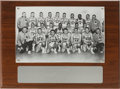 Basketball Collectibles:Others, 1957 University of Kansas Jayhawks Big 7 Champions PhotographicPlaque....