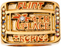 """Basketball Collectibles:Others, 2008 """"Semi Pro"""" Motion Picture Flint Tropics 4th Place ChampionshipRing...."""