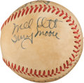 Autographs:Baseballs, 1940's Hall of Famers & Stars Multi-Signed Baseball with Ott, Maranville....