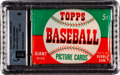 Baseball Cards:Unopened Packs/Display Boxes, 1952 Topps Baseball Five Cent High Number Wax Pack GAI EX-MT 6. ...