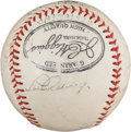 Baseball Collectibles:Balls, 1939 New York Yankees Multi Signed Baseball - Signed by Gehrig & DiMaggio Nine Days Before Season Began. ...