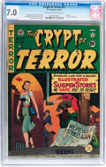 Golden Age (1938-1955):Horror, Crypt of Terror #17 (EC, 1950) CGC FN/VF 7.0 Cream to off-whitepages....