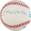 Autographs:Baseballs, 1985 Joe DiMaggio & Mickey Mantle Dual-Signed Baseball....