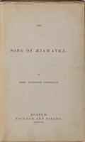 Books:Literature Pre-1900, Henry Wadsworth Longfellow. The Song of Hiawatha. Ticknor& Fields, 1855. First edition, first issue. Publisher'...