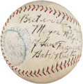 Autographs:Baseballs, 1929 Babe Ruth & Lou Gehrig Signed Baseball to Mayor of San Francisco....