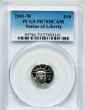 Modern Bullion Coins, 2001-W P$10 Tenth-Ounce Platinum Statue of Liberty PR70 Deep CameoPCGS. PCGS Population (122). NGC Census: (486). Numisme...