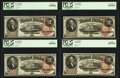 Large Size:Legal Tender Notes, Fr. 50 $2 1880 Legal Tender Cut Sheet of Four PCGS Gem New 65PPQ,65PPQ, Very Choice New 64PPQ, Choice New 63PPQ.. ... (Total: 4notes)