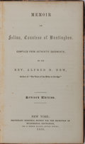 Books:Biography & Memoir, Alfred H. New. Memoir of Selina, Countess of Huntingdon.Protestant Episcopal Society, 1858. Revised edition. Co...