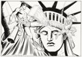 Original Comic Art:Sketches, Jim Mooney - Sub-Mariner and the Human Torch Specialty Illustration Original Art (undated). With a career stretching back to...