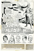 Original Comic Art:Splash Pages, Irv Novick and Dick Giordano - Detective Comics #425, Splash Page 1Original Art (DC, 1972). This dramatic page features the...