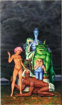 "Don Ivan Punchatz - ""Sideshow: Tales of the Galactic Midway"" #1 Paperback Cover Original Art (New American Lib..."
