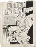 Original Comic Art:Splash Pages, Jerry Robinson (attributed) - Green Hornet Comics #26 Splash PageOriginal Art (Harvey, 1945). The Green Hornet takes center...