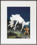 Original Comic Art:Covers, Sam Savitt - The Lone Ranger's Famous Horse Hi-Yo, Silver #29 CoverOriginal Art (Dell, 1959). The spirit of the Lone Ranger...