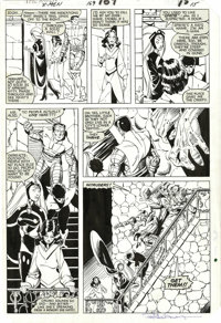 Paul Smith and Bob Wiacek - The Uncanny X-Men #169, page 15 Original Art (Marvel, 1983). Storm, Nightcrawler, Kitty, and...