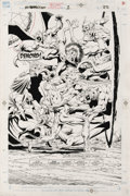 Original Comic Art:Splash Pages, Jim Starlin - Silver Surfer/Warlock: Resurrection #1, Splash page22 Original Art (Marvel, 1993). Silver Surfer, Adam Warloc...
