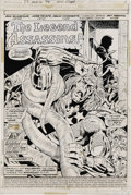 Original Comic Art:Splash Pages, Herb Trimpe and Frank Chiaramonte - Amazing Adventures #23, Splashpage 1 Original Art (DC, 1973). Killraven, the fiery hair...
