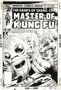 Original Comic Art:Covers, Mike Zeck and Rudy Nebres - Master of Kung Fu #75 Cover Original Art (Marvel, 1979). Shang-Chi finds himself in the grip of ...