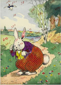 Original Comic Art:Miscellaneous, Harrison Cady - Peter Rabbit Artist-Colored Production Art, Groupof 4 (Little, Brown Company, 1941-44). Lovely suite of fou...(Total: 4 Items)