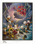 """Original Comic Art:Paintings, Carl Barks - """"Afoul of the Flying Dutchman"""" Gold Plate Edition Lithograph #36/100 (Another Rainbow, 1985). Carl Barks' """"Afou..."""