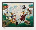 """Original Comic Art:Miscellaneous, Carl Barks - """"Return to Plain Awful"""" Gold Plate Edition Lithograph#46/100 (Another Rainbow, 1989). ..."""