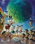 """Original Comic Art:Miscellaneous, Carl Barks - """"An Astronomical Predicament"""" Gold Plate EditionLimited Signed and Numbered Lithograph, 52/100 (Another Rainbow,...(Total: 2 Items)"""