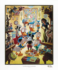 """Original Comic Art:Miscellaneous, Carl Barks - """"In Uncle Walt's Collectery"""" Gold Plate EditionLithograph #74/100 (Another Rainbow, 1984). ... (Total: 2 Items)"""