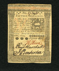 Colonial Notes:Pennsylvania, Pennsylvania October 1, 1773 15s About New. This is a very niceexample of this popular type which has three superb signatur...